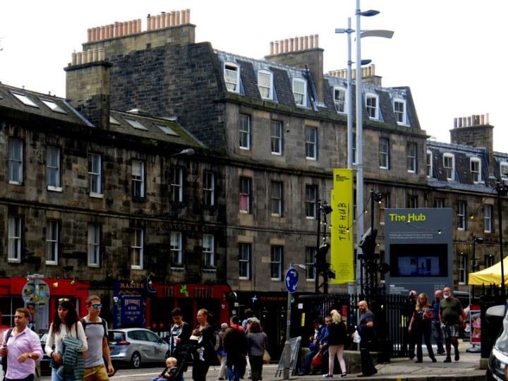 The Hub Box Office, Edinburgh International Festival, the Royal Mile, Old Town, Edinburgh, Scotland