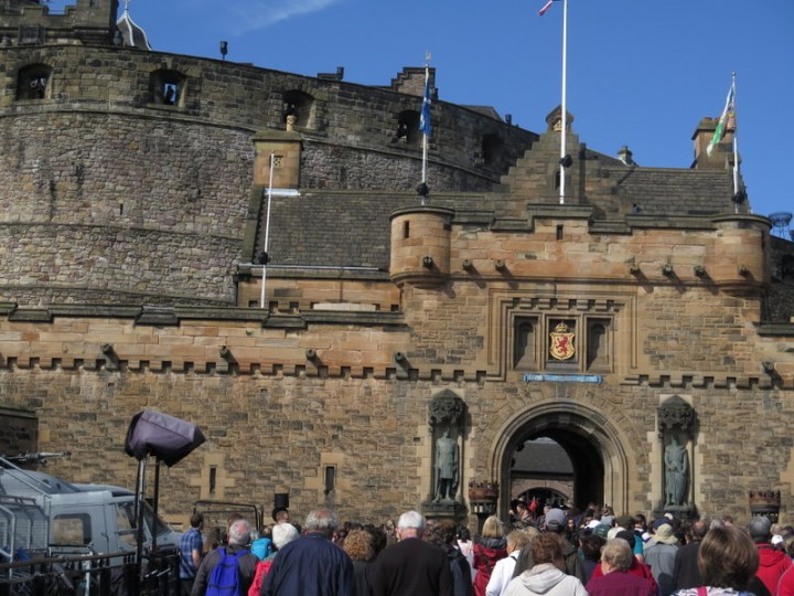 Scottish Castle, Mary Queen of Scots the Royal Mile, the Honors, Edinburgh, Scotland,