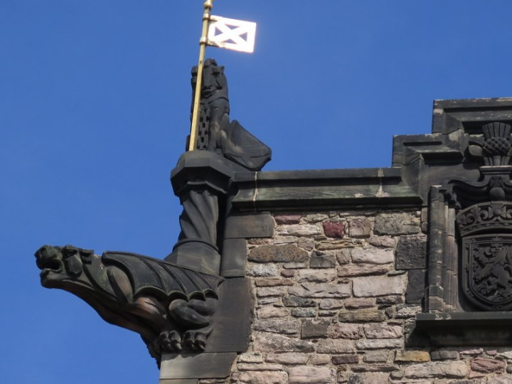 Scottish castle, Edinburgh, Scotland