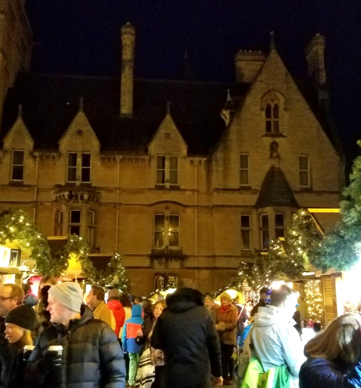 Oxford, UK, Christmas markets, Christmas 2017
