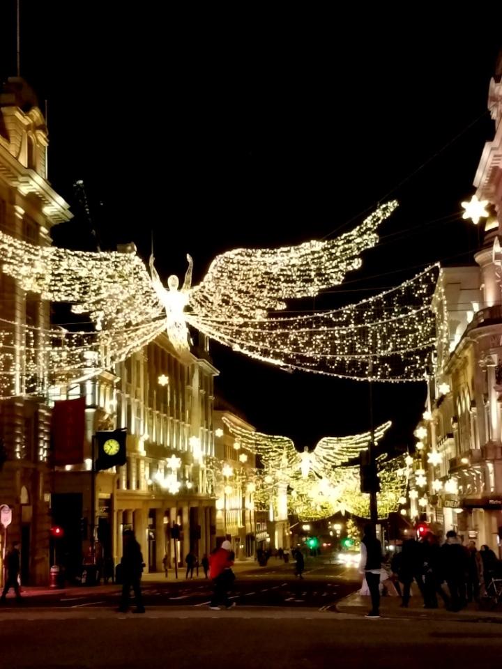 London't West End, theatre district, Christmas 2017, London, UK
